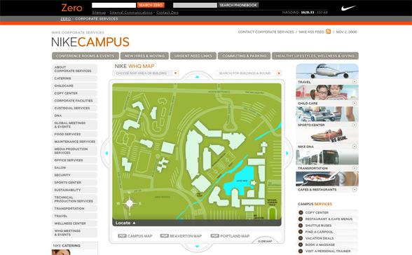 Nike Beaverton Campus Map